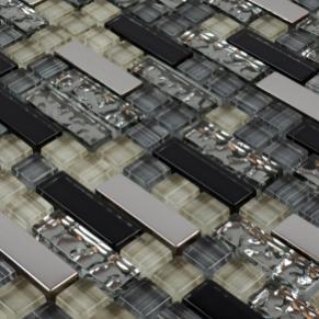 Beautiful Metal Glass Tile Bathroom Wall Tiles