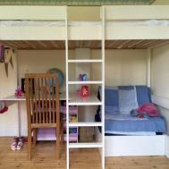 Bedroom Bunk Beds Kids Desks Underneath Tray