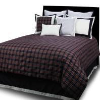 Bedroom Dark Beds Design Plaid Comforter Pillow