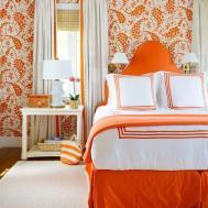 Bedroom Gorgeous Fresh Orange Decor Ideas Navy