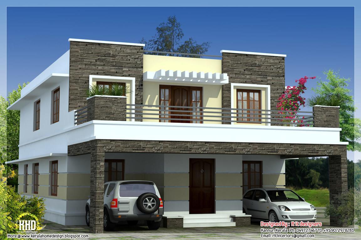Bedroom Modern Flat Roof House Kerala Home Design Decoratorist 98413