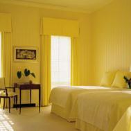 Bedroom Modern Gray Yellow Decor Ideas