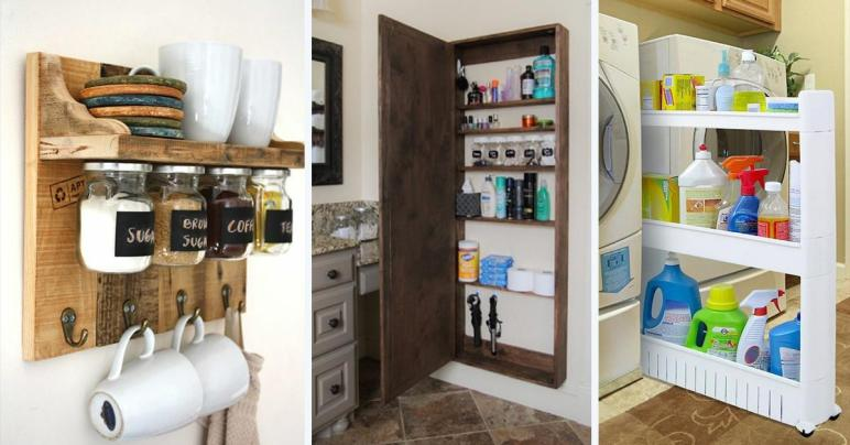 Best Storage Ideas Projects Small Spaces 2018