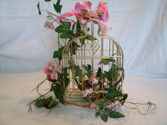 Birdcage Floral Arrangement Cottage Chic Mothers Day Wedding