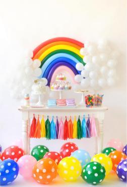 Birthday Decorations Rainbow Inspiration Cake
