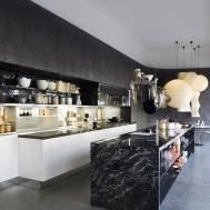 Black Marble Kitchen Island Interior Design Ideas
