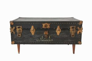 Black Vintage Steamer Trunk Coffee Table At1stsight Etsy