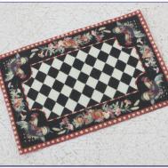 Black White Checkered Bath Rug Rugs Home