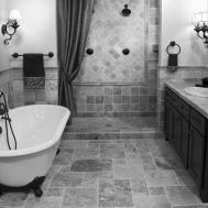 Black White Floor Tiles Bathroom Trendy Idea