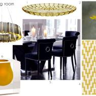 Black Yellow Dining Room