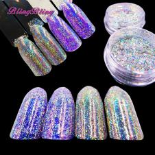 Blingbling Nail Flakes Laser Glitter Fluorescent Powder