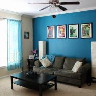 Blue Brown Living Room Decorating Ideas Best
