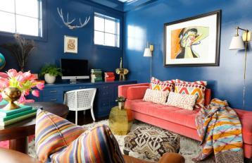 Blue Eclectic Home Decor Ideas Collection