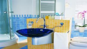 Blue Yellow Bathroom Ideas