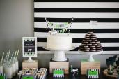 Bodhi Modern Stripes Dots Cow Birthday Party Part