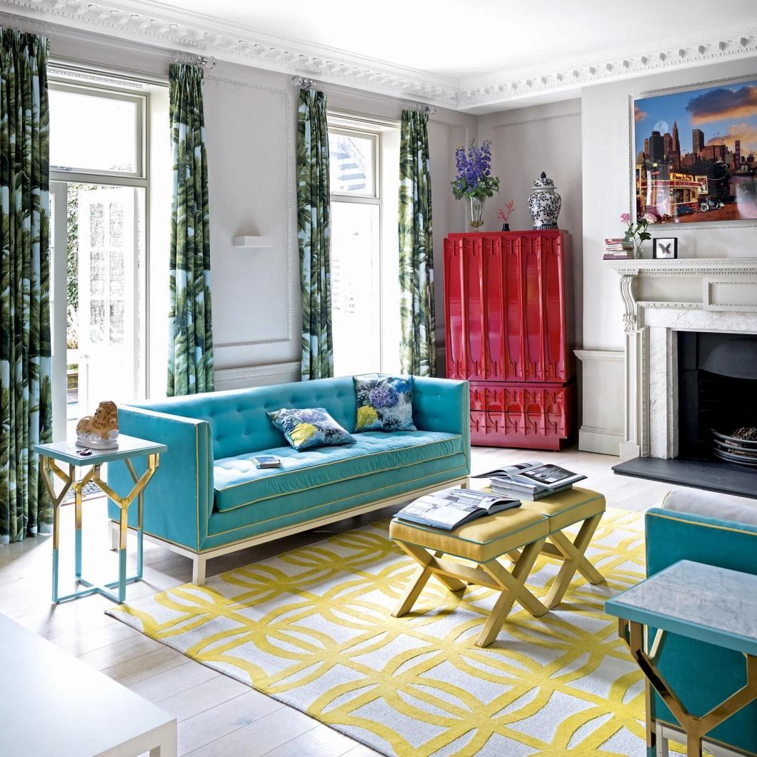 Bright And Bold Guest Bedroom: Bright Bold Living Rooms