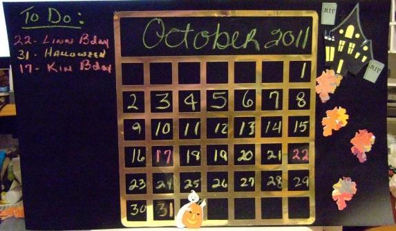 Boss Kut Chalkboard Perpetual Calendar Linn