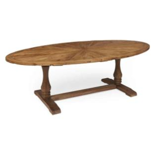 Boston Oval Reclaimed Wood Dining Table Dmwfurniture