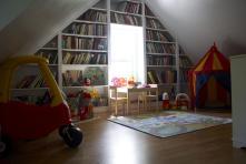 Breathtaking Attic Style Playroom Design Inspiration