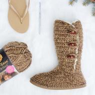 Breckenridge Boots Flip Flop Soles Crochet Pattern