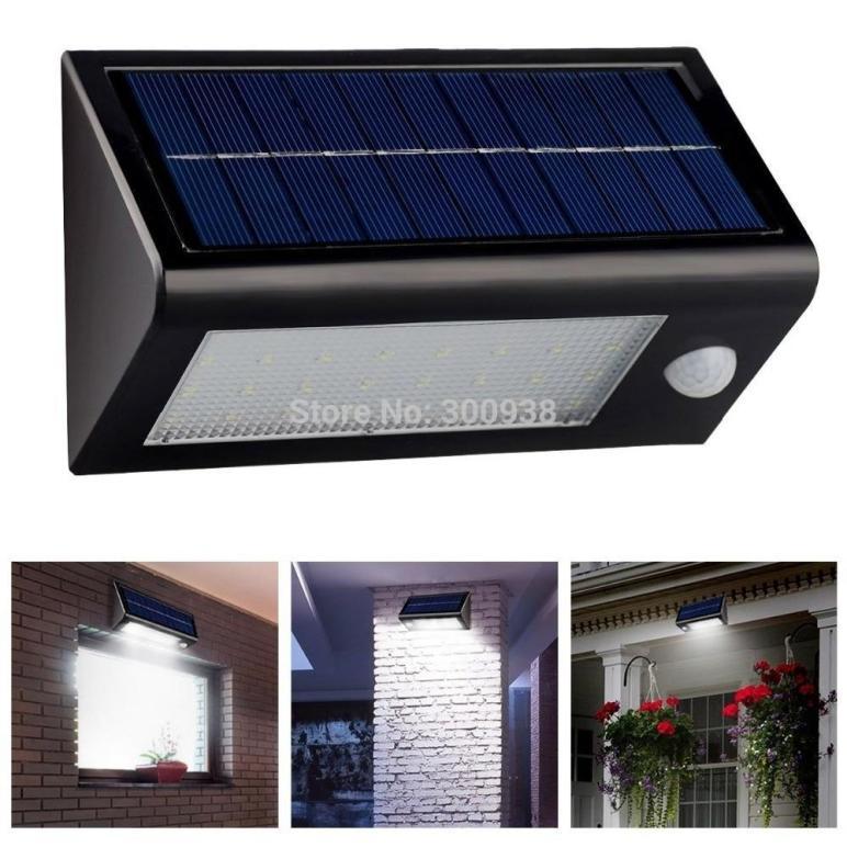 Bright Led Solar Powered Motion Sensor Wall Lamp