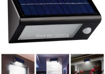 Bright Led Solar Powered Motion Sensor Wall Lamp