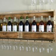 Brilliant Rustic Wine Bottle Wall Rack Diy Instructions