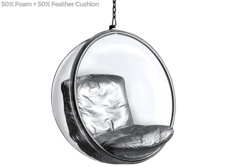 Bubble Chair Eero Aarnio Platinum Replica