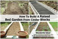 Build Raised Bed Garden Cinder Blocks