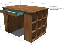 Build Wooden Craft Desk Plans Corrugated