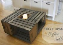 Building Milk Crate Coffee Table Joy Journey