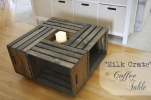 Building Milk Crate Coffee Table Joy Journey