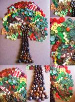 Button Crafts Idea Family Tree Telling