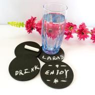 Buy Chalkboard Coasters Round India Kraftly