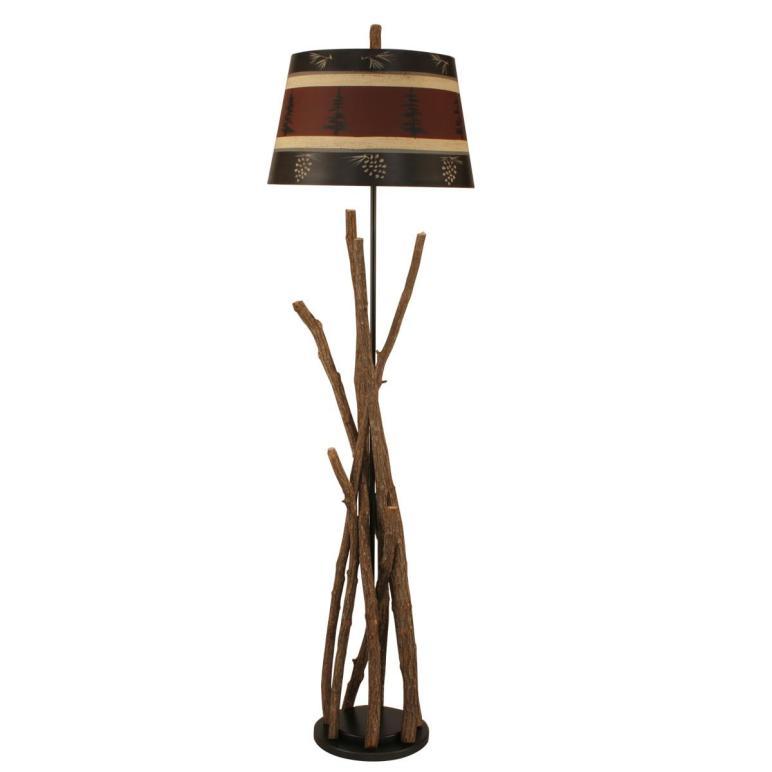 Campfire Table Lamp Tree Pine Cone Shade