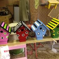 Captivating Colorful Nuance Birdhouse Design Ideas
