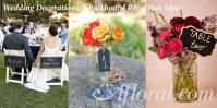 Chalkboard Wedding Decorations Afloral Blog