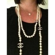 Chanel Long Necklace Timeless Pearl