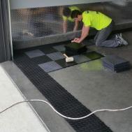 Checkered Garage Floor Custom Diamond Grid Loc Tiles