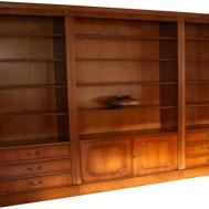 Cherry Wood Bookcase Doors Modular Units