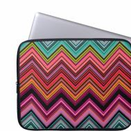 Chevron Zigzag Pattern Laptop Computer Sleeves Zazzle