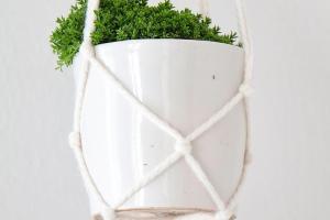 Chi Dee Handmade Diy Macrame Pot Hanger Tutorial