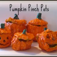 Chocolate Muffin Tree Pumpkin Pinch Pots