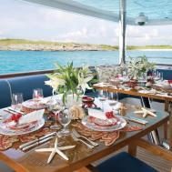 Christensen Charter Yacht Lady Joy Fresco Dining