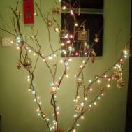 Christmas Decoration Unconventional Twig Tree
