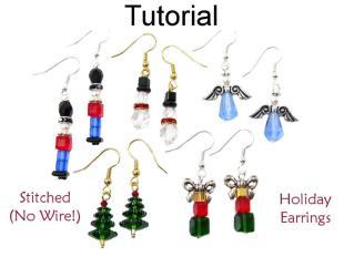 Christmas Earrings Beading Tutorial Easy Beginner Project