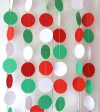 Christmas Garland Paper Circle Approx 10ft Long