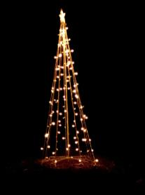 Christmas Lights Shaped Like Tree Holiday Yard Decoration