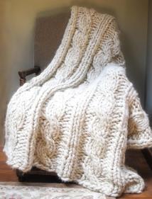 Chunky Alpaca Afghan Knitting Pattern Jess Wrobel