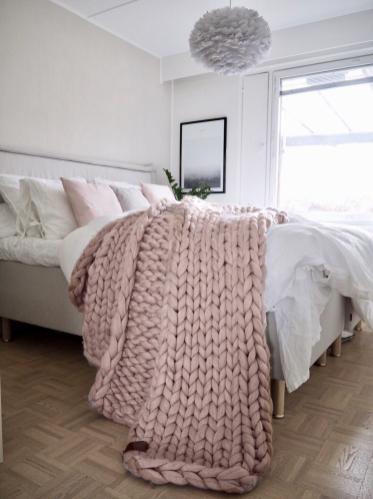 Chunky Knit Blanket Large 100 Merino Wool Art